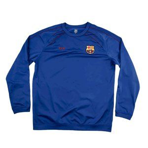 FCB FC Barcelona Jersey Men's XL Blue Long Sleeve